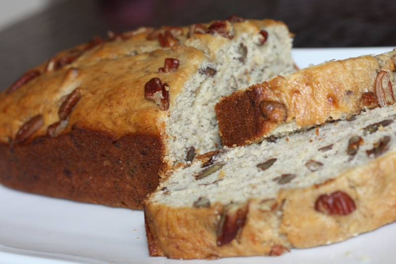 Banana nut bread finish