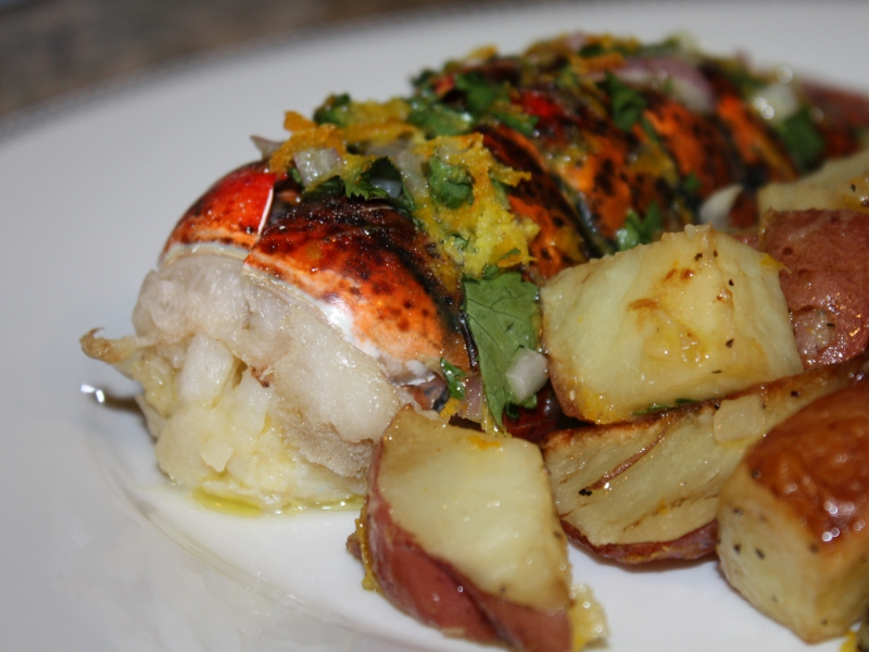 A valentine's dinner - Lobster and potatoes