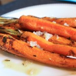 Grilled carrots finish