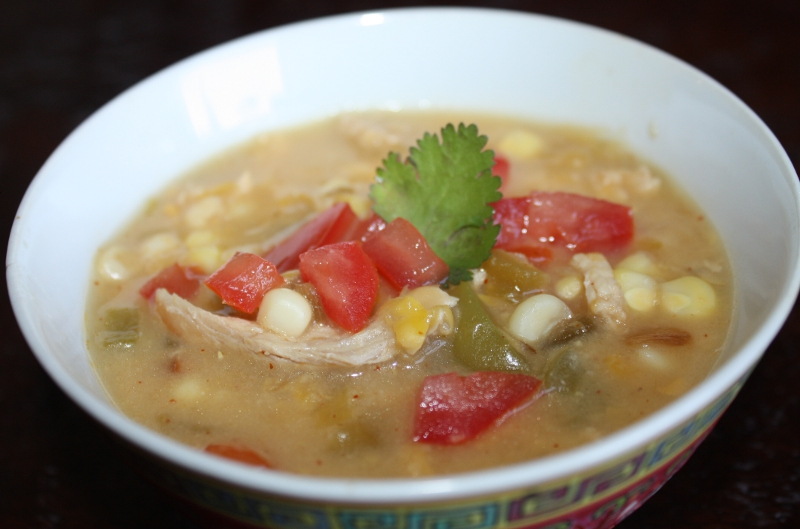 Summer corn chowder finish