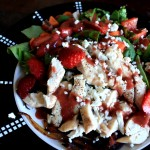 Grilled chicken strawberry salad finish 2