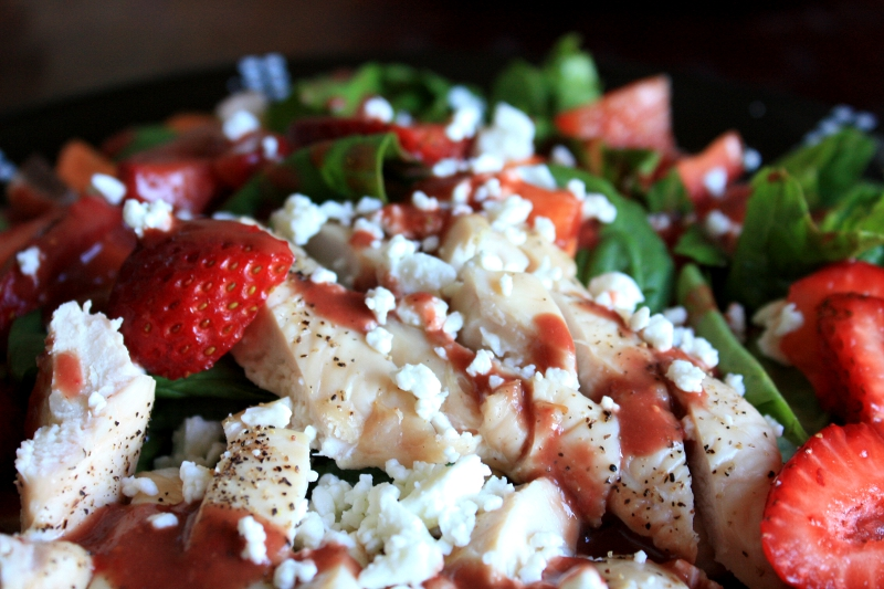 Grilled Chicken Salad with a Strawberry Balsamic Vinaigrette | Red ...