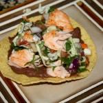 Salmon tostadas finish