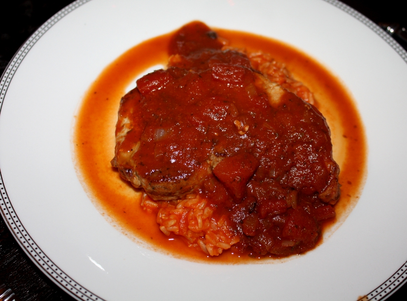 Italian Pork Chops and Rice