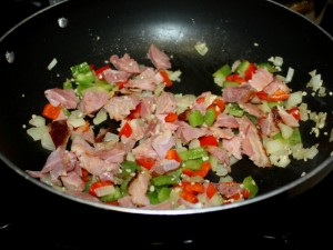 Ham and veggies
