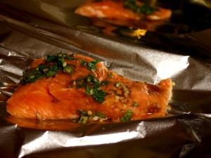 Salmon prebake foil