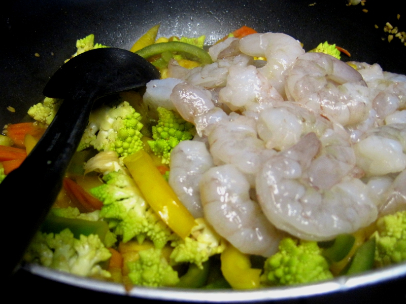 shrimp stir fry precook