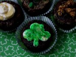 Festive Irish Cream Glazed Cupcakes