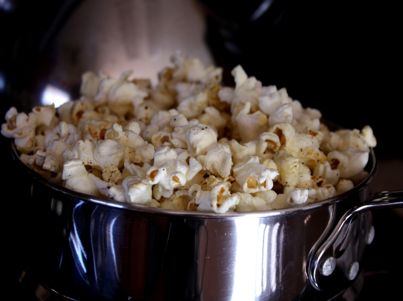 BBQ popcorn popped