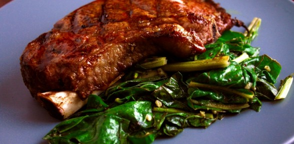 Steak and Chard