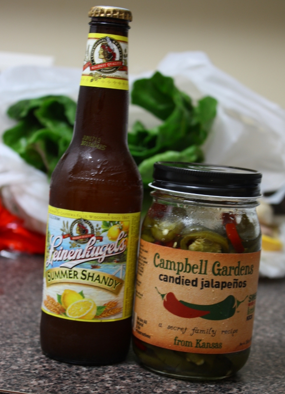 beer and peppers