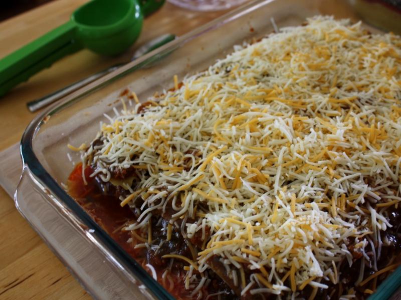 Mexican lasagna pre bake