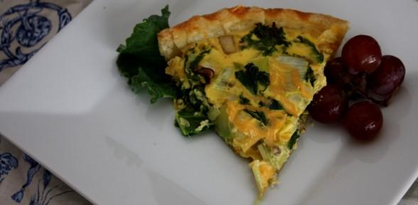 Kale, Leek and Mushroom Quiche