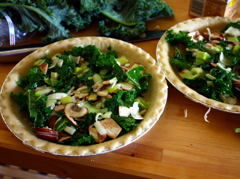 leek quiche veggies