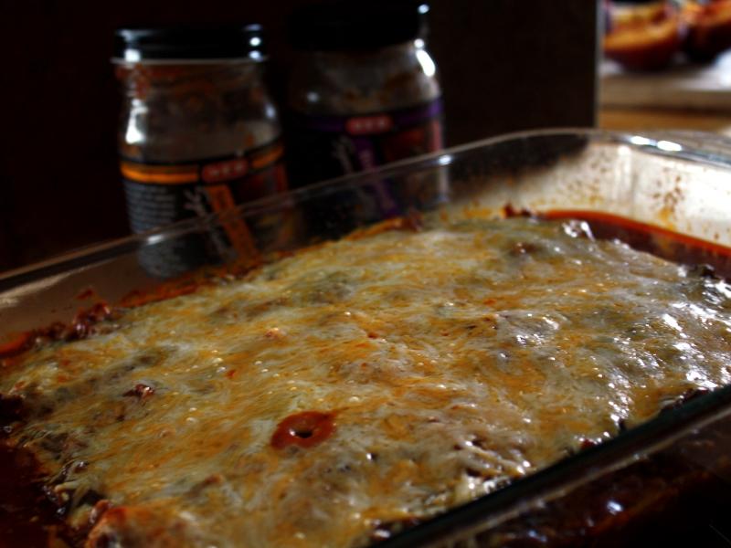 mexican lasagna baked