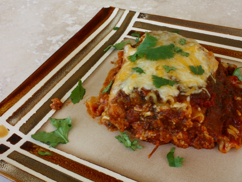 mexican lasagna finish
