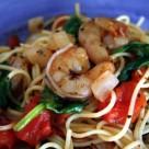 shrimp pasta finish