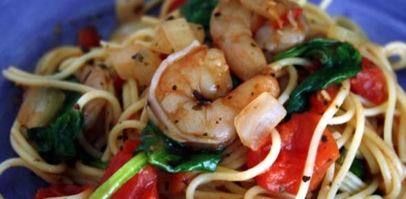 Shrimp Pasta Florentine