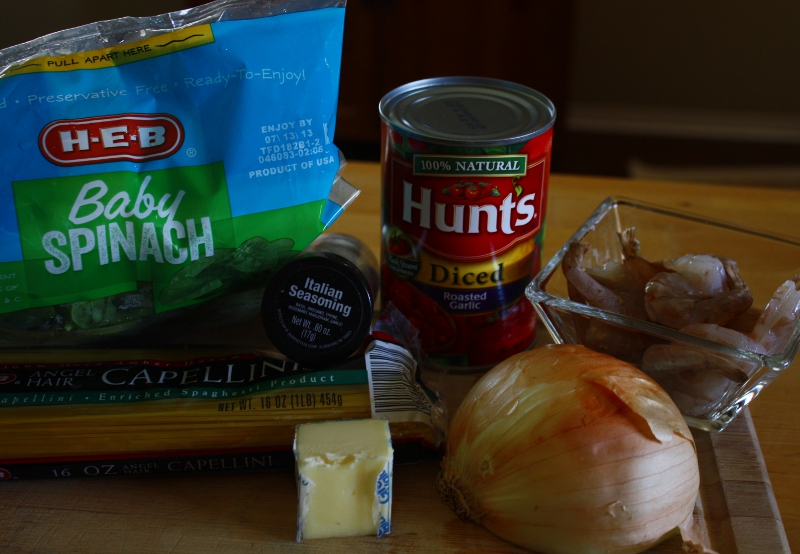 shrimp pasta ingredients