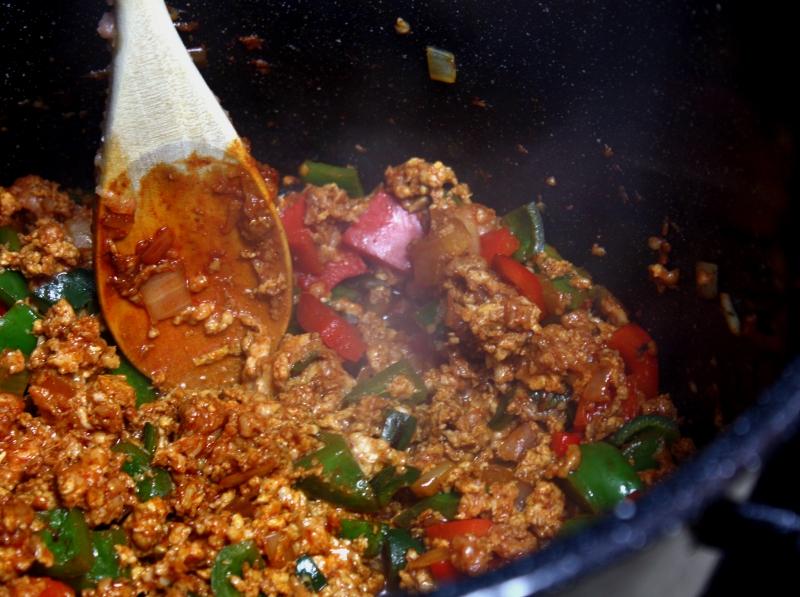 pumpkin chili meat and veggies