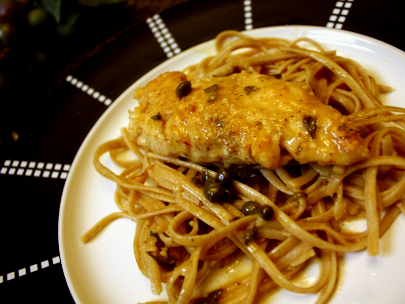 Chicken picatta finish 1