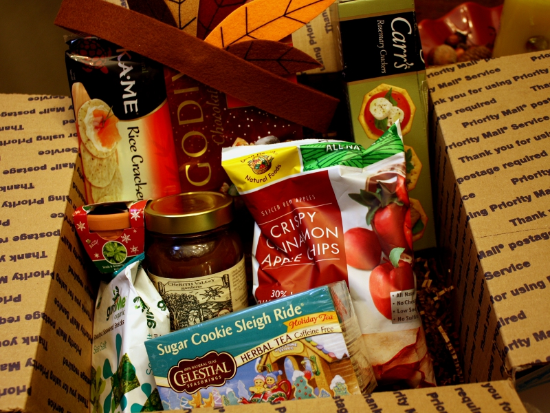 november food pen pal box