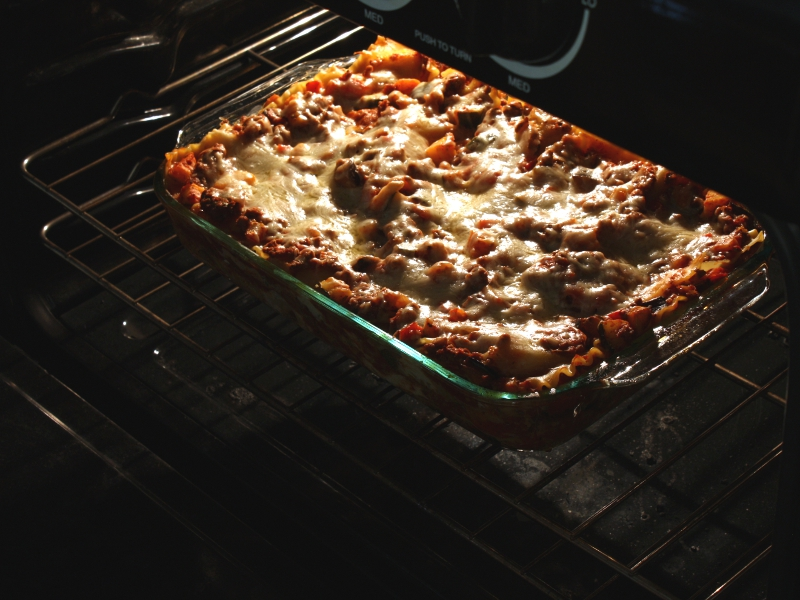 veggie lasagna baked