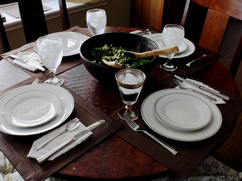 kale salad table