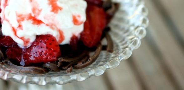 Strawberries and Chocolate Pasta