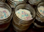 cake in a jar finish