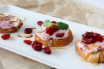 Cranberry Goat Cheese Crostinis